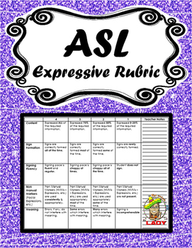 ASL Expressive Rubric
