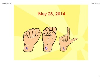 ASL FRUIT LESSON