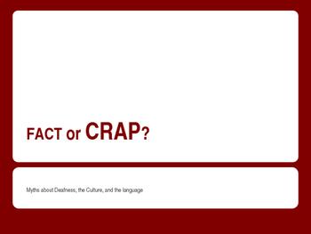 """ASL """"Fact or Crap"""""""