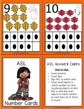 ASL Fall Number Cards