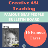 ASL Famous Deaf People Bulletin Board Set