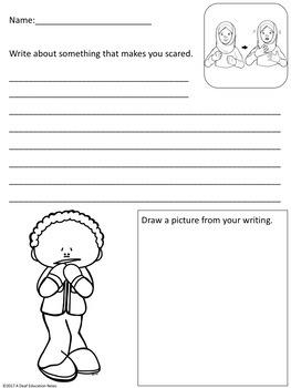 ASL: Feeling- writing worksheets