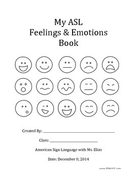 ASL Feelings & Emotions Book