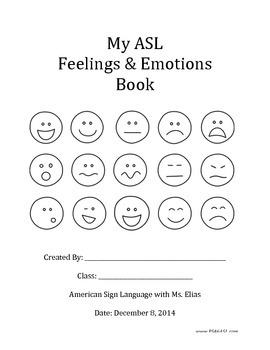 ASL Feelings & Emotions Book
