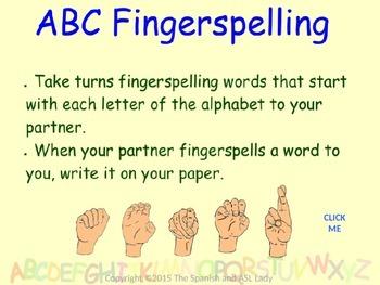 ASL Fingerspelling Lesson DAY 1