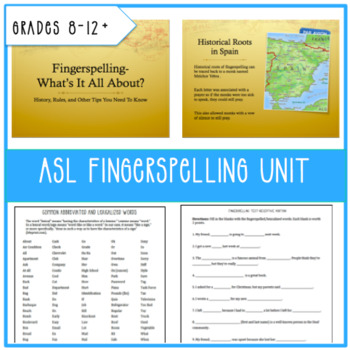 ASL Fingerspelling Unit