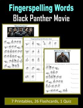 ASL - Fingerspelling Words (Black Panther Movie)