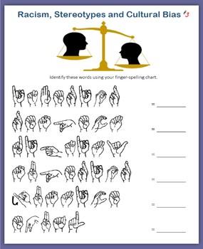 ASL - Fingerspelling Words (Racism, Stereotypes and Cultural Bias)