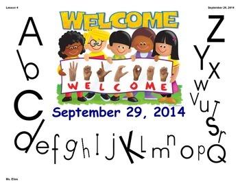 ASL Fingerspelling/Alphabet Lesson