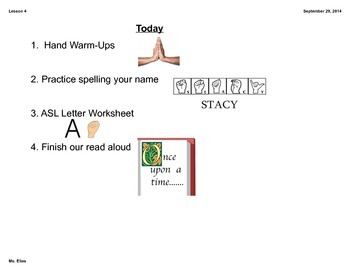 ASL Fingerspelling/Alphabet Lesson
