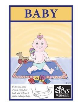 ASL Flash Card - Baby