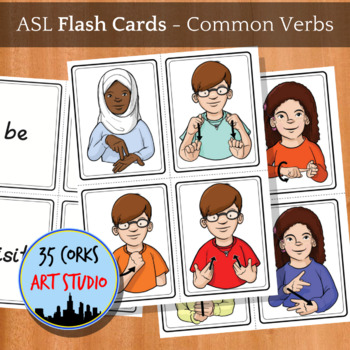 ASL Flashcard Set 1 - Common Verbs