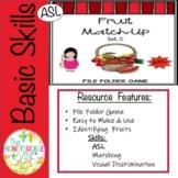 ASL Fruit File Folder Game Set 2