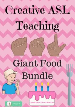 ASL Giant Food Activity Bundle