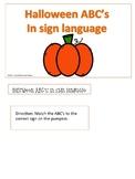 ASL: Halloween ABC's file folder game