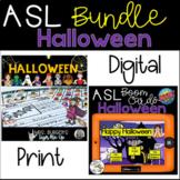 ASL Halloween BUNDLE Printable Version and BOOM CARDS™