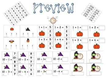 ASL: Halloween Basic Skill Math Task Boxes