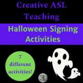 ASL Halloween Sigining Activities - ASL Vocabulary