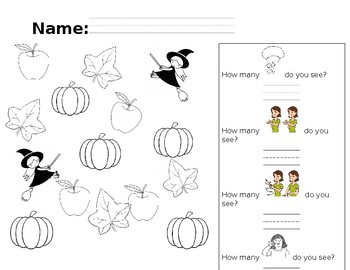 ASL Halloween and Number Activity