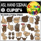 ASL Hand Signal Clipart