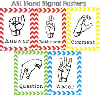 ASL Hand Signal Posters