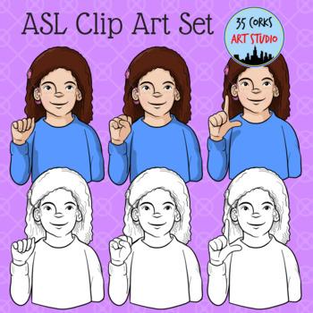 ASL Hand-Spelled Clip Art Freebie