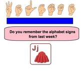 ASL Hand-y Book Mark Lesson / Alphabet