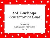 ASL Handshape Family Concentration Game