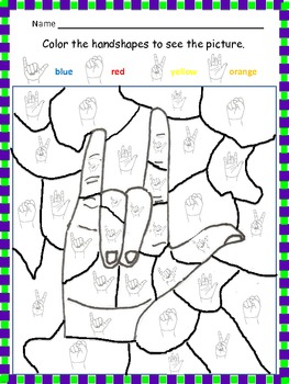 Sign language worksheets for high school