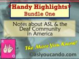 Deaf Culture Notes & ASL Highlights