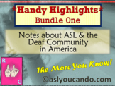 Deaf Culture Notes & ASL Highlights