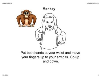 ASL Holiday Animal Lesson