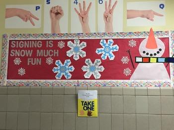 ASL Holiday Bulletin Board Idea