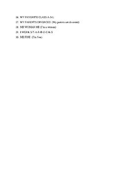 ASL I Quiz #1