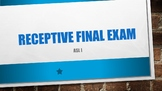 ASL I Receptive Final Exam #1 w/ Power Point Answer Key