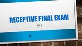 ASL I Receptive Final Exam #1 w/ Power Point Answer Key
