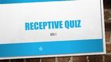 ASL I Receptive Quiz #4 w/ Power Point Answer Key