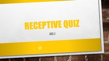ASL I Receptive Quiz #5 w/ Power Point Answer Key