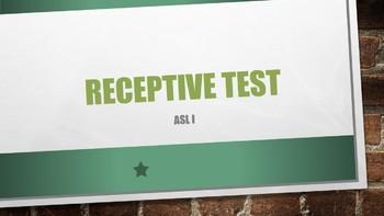 ASL I Receptive Test #8 w/ Power Point Answer Key