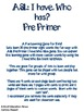 ASL I have, Who has? Pre primer game