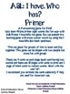 ASL I have, Who has? Primer game