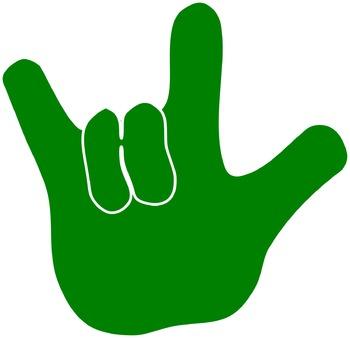 """ASL """"I love you"""" hands"""