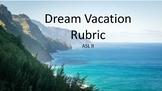 ASL II:  Dream Weekend Expressive Project Rubric