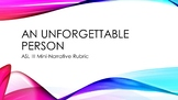 ASL III: An Unforgettable Person Mini-Story Rubric