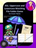 ASL: Ice Cream ABC's Matching File Folder Game