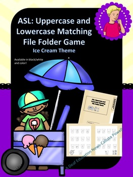 ASL: Ice Cream ABC's Matching File Folder Game