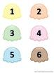ASL: Ice Cream Number Match 1-10 File folder game