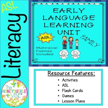 ASL Language Unit Family Pre-K & Kindergarten