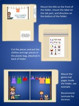 ASL: Laundry File Folder Game