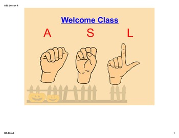 ASL Lesson on Counting/Numbers and Colors